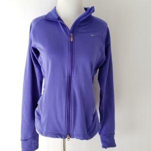 Nike Fit Dry running zip-up purple jacket Med